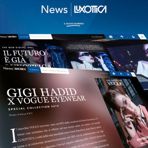 Magazine digitale, Luxottica