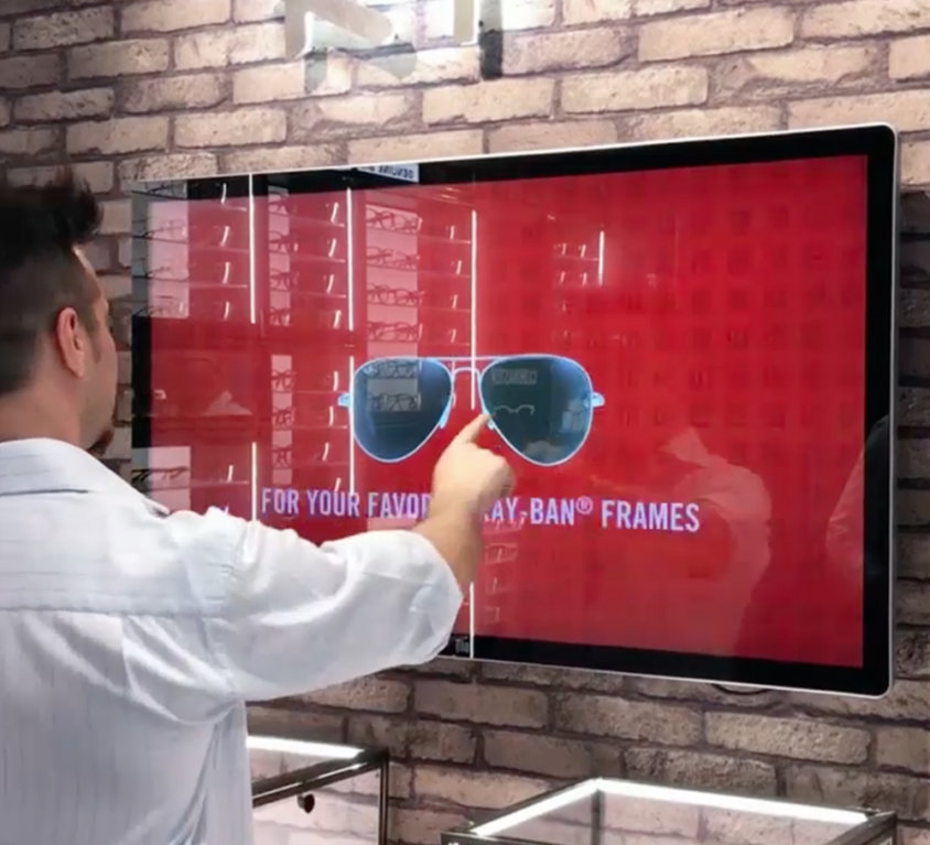 Prescription lenses simulator, Ray-Ban